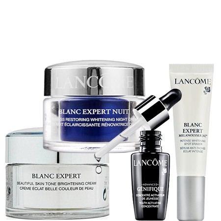 LANCOME Lancome Set Advanced Genifique Youth Activating Concentrate 7ml + BLANC EXPERT Melanolyser [AI] Intense Whitening Spot Eraser 10 ml + Blanc Expert Beautiful Skin Tone Brightening Cream 15 ml + Blanc Expert Night Cream 15 ml